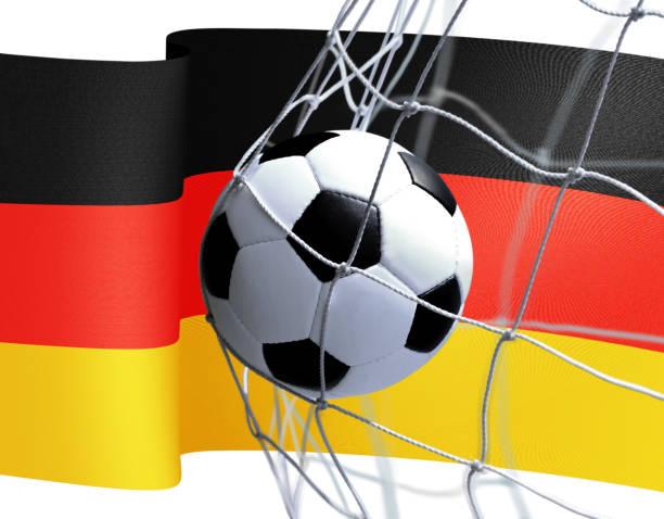 Fußball mit Deutschland-Flagge – Foto