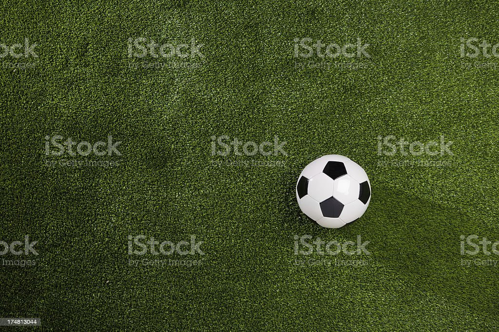 Soccer Ball on Green Grass background royalty-free stock photo