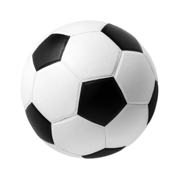Fußball auf isolierten – Foto