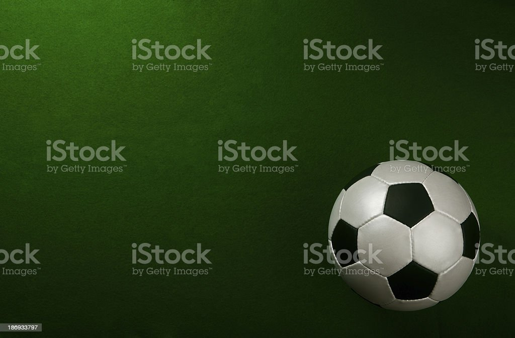 soccer ball on pitch royalty-free stock photo