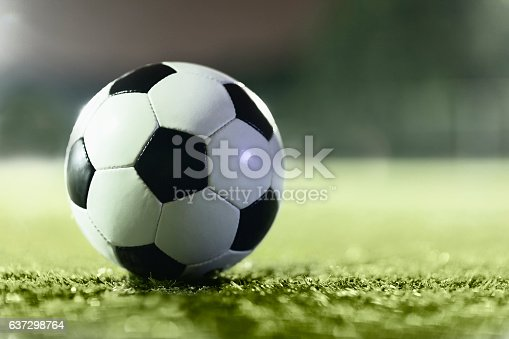 637298374istockphoto Soccer ball on sports field 637298764