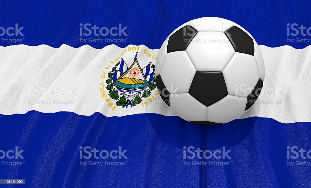 Soccer Ball On The Flag Of El Salvador Stock Photo Istock