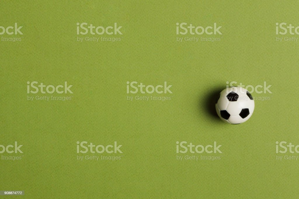 Soccer ball on the green background. Soccer worldcup 2018 stock photo