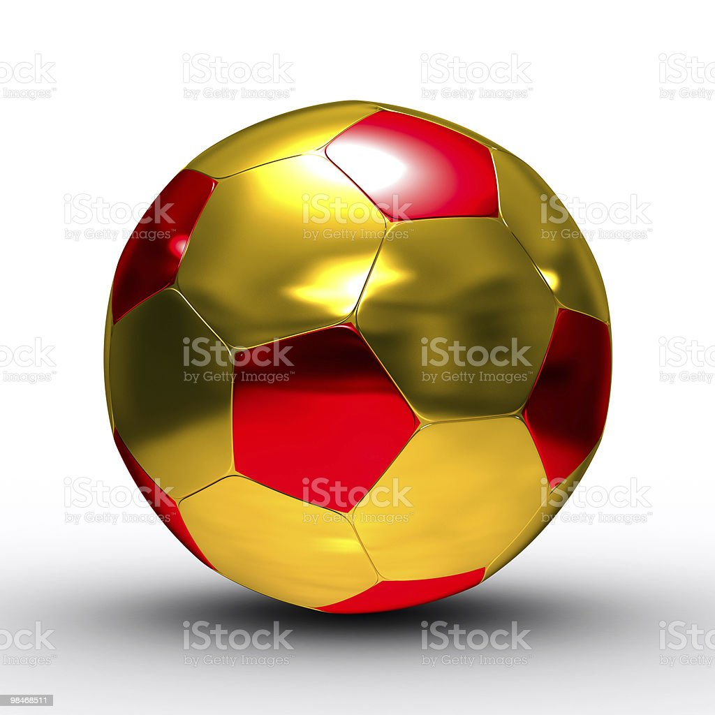 soccer ball on white background. Isolated 3D image royalty-free stock photo