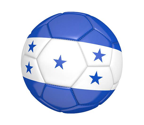 pelota de fútbol o fútbol con la bandera del país de honduras - bandera de honduras fotografías e imágenes de stock