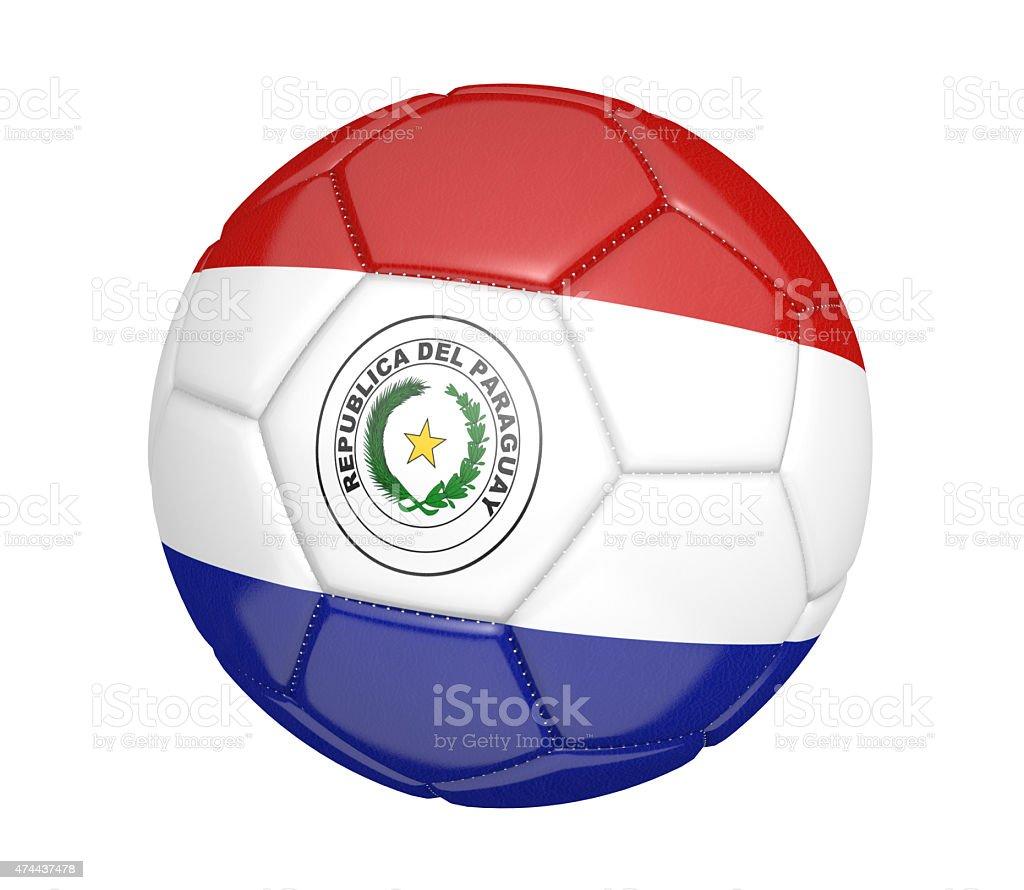 Pelota de fútbol o fútbol con la bandera del país de Paraguay - foto de stock