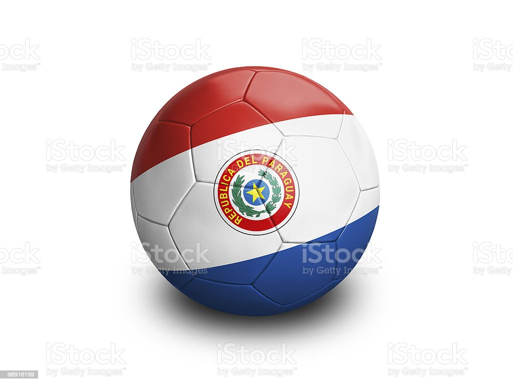 Soccer Ball Paraguay royalty-free stock photo