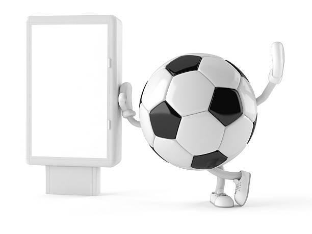fußball ball - fußball poster stock-fotos und bilder
