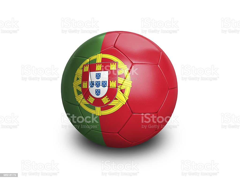 Soccer Ball Portugal royalty-free stock photo