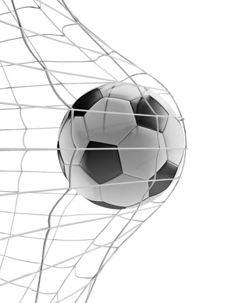 Soccer ball Fußball Ziel 3d-Illustration isoliert – Foto