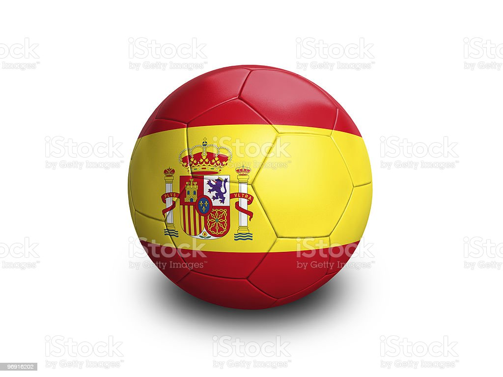 Soccer Ball Spain royalty-free stock photo
