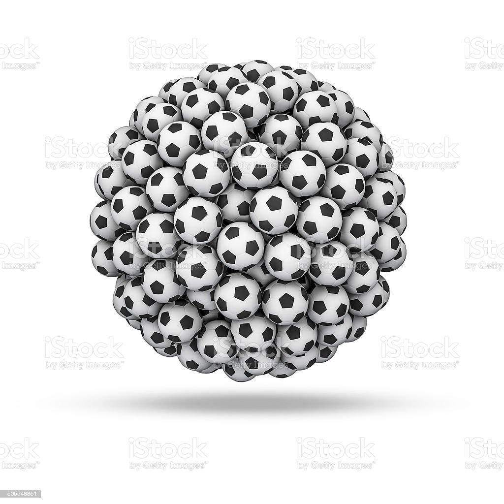 Soccer ball sphere royalty-free stock photo