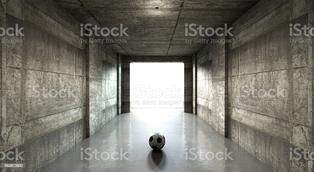 Soccer Ball Sports Stadium Tunnel stock photo