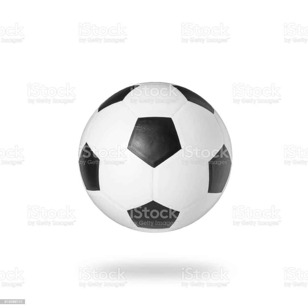 Soccer ball Studio shot and isolated on white background stock photo