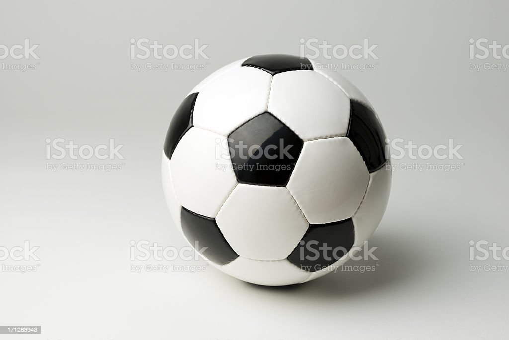 Soccer ball, studio shot royalty-free stock photo