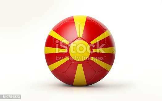 1056280906istockphoto Soccer Ball Textured with Macedonian Flag Isolated on White Background 840754320