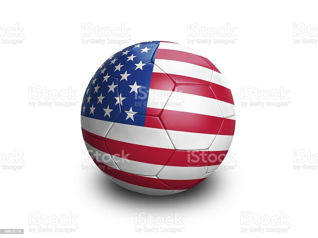 Soccer Ball USA royalty-free stock photo