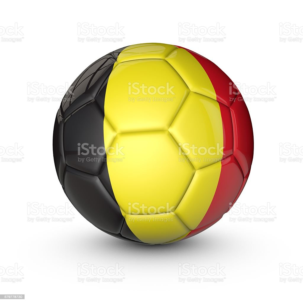 Soccer ball with Belgium flag texture foto