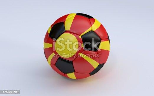 istock Soccer ball with flag of Macedonia 479486551