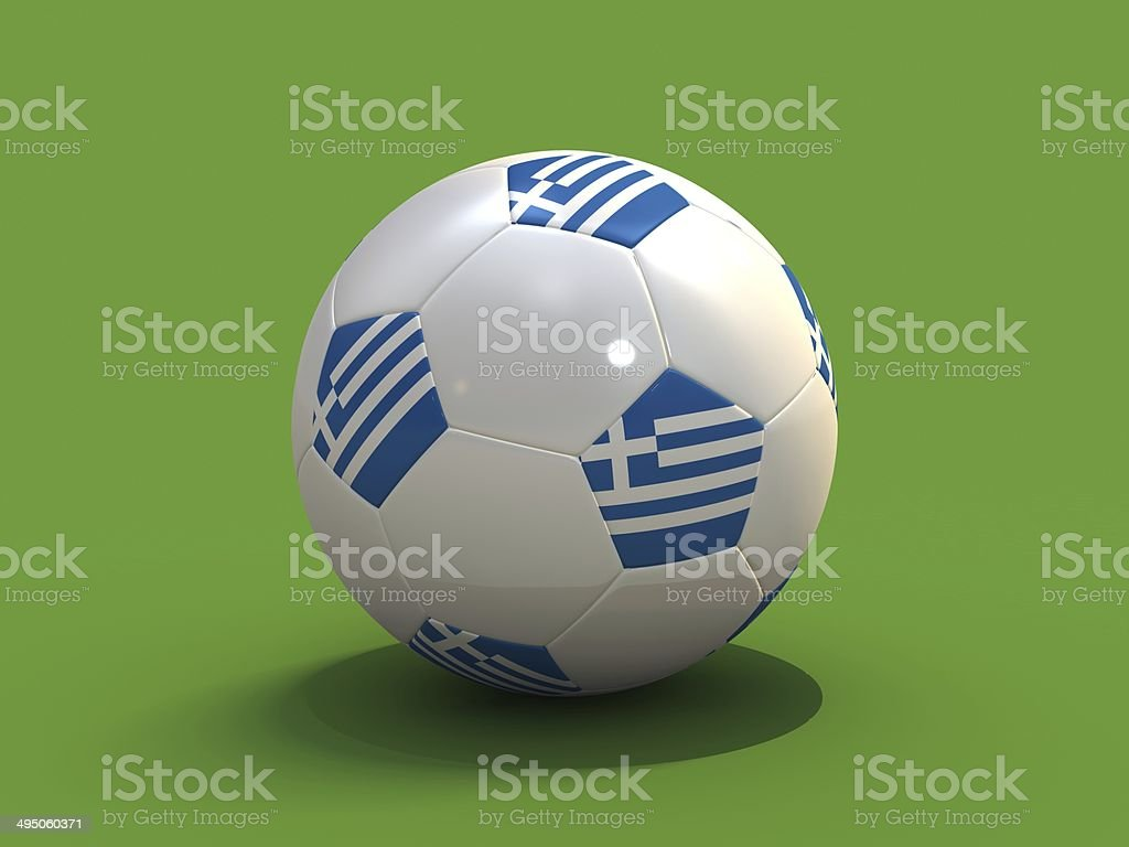 Soccer Ball with flag stock photo