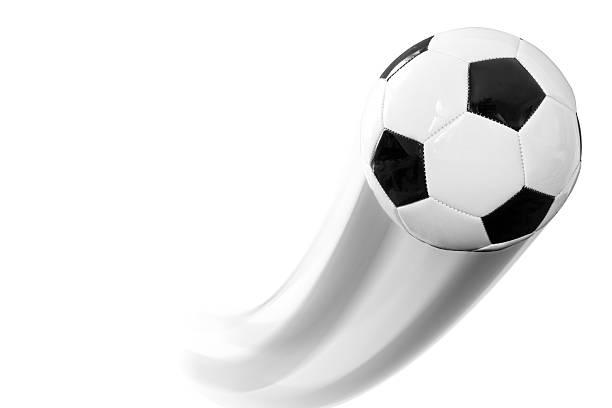 Fußball Kugel in Bewegung – Foto