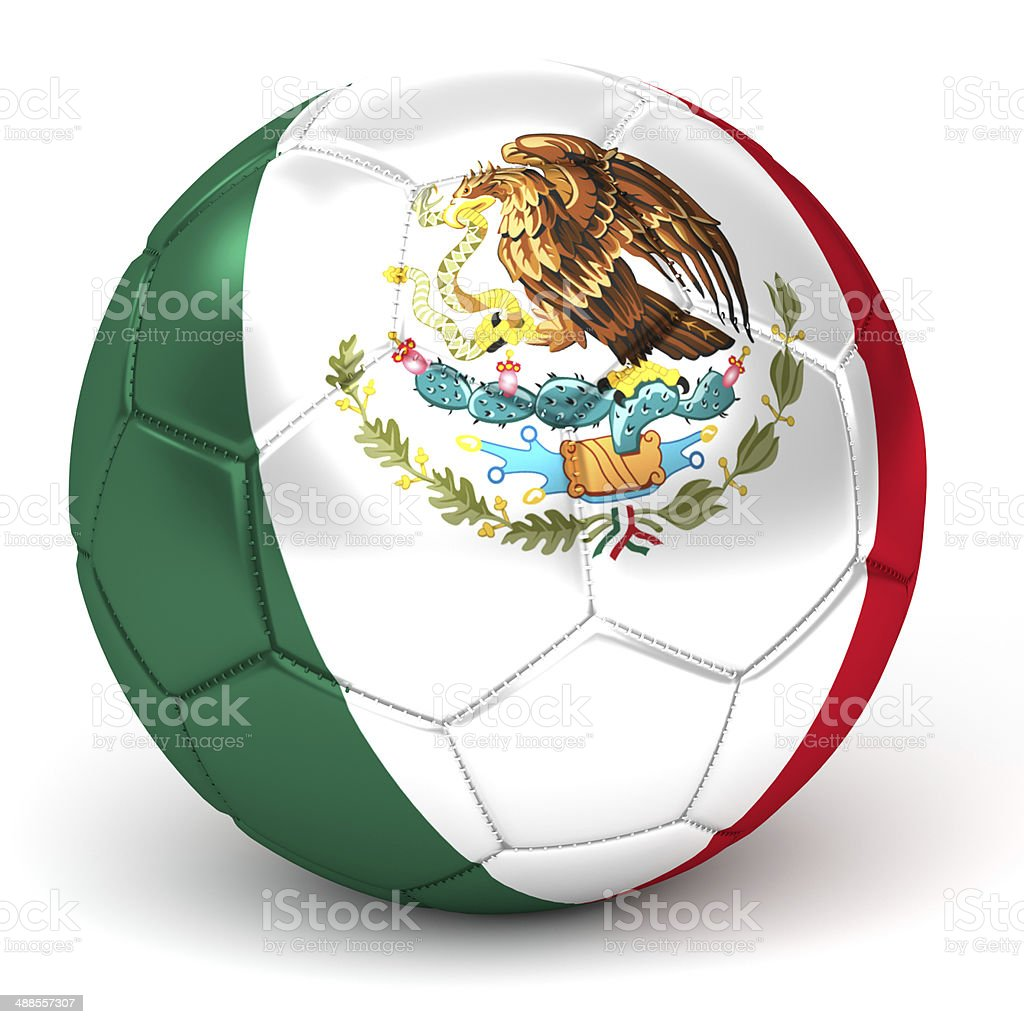 soccer ball with mexican flag royalty-free stock photo