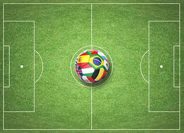 3d soccer ball with nations teams flags - football portugal flag bildbanksfoton och bilder