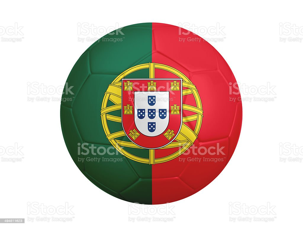 Soccer Ball With Portugal Flag Stock Photo More Pictures Of Ball