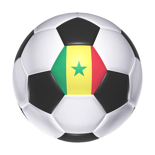 Bola de futebol com bandeira do Senegal - foto de acervo