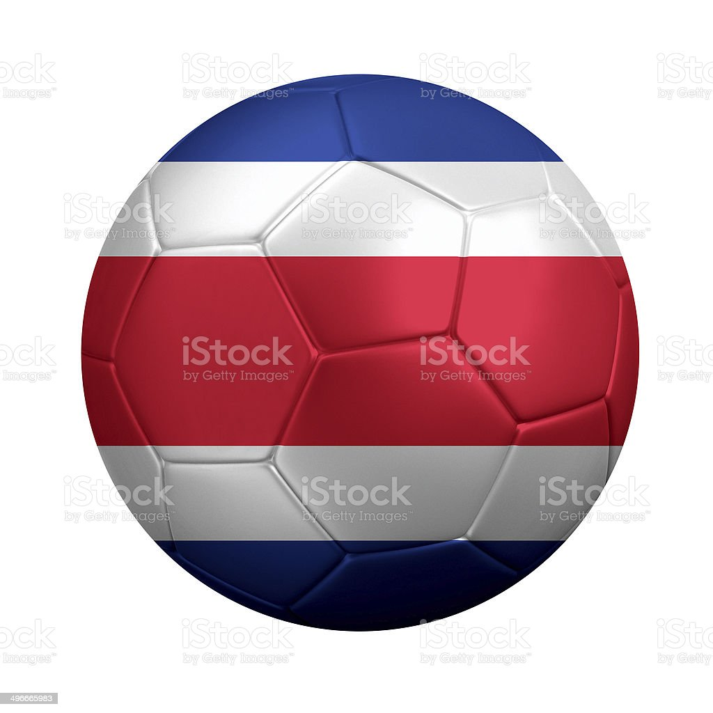 Soccer Ball Wrapped in Costa Rican Flag stock photo