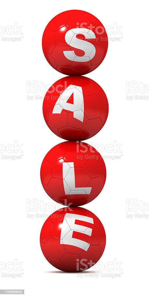 SALE - Soccer Balls royalty-free stock photo