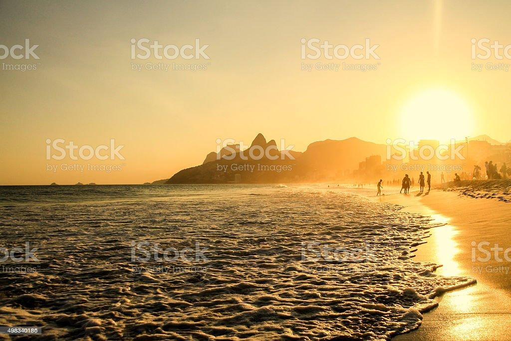 Soccer beach stock photo