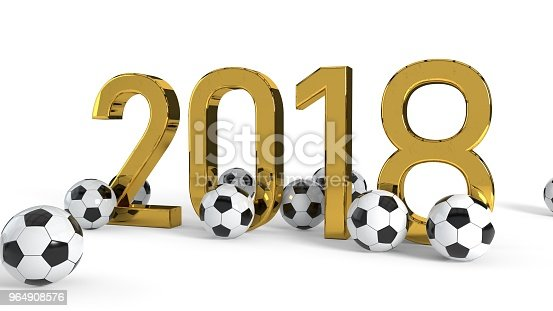 175960311 istock photo 2018 soccer championship concept background, 3d rendering 964908576