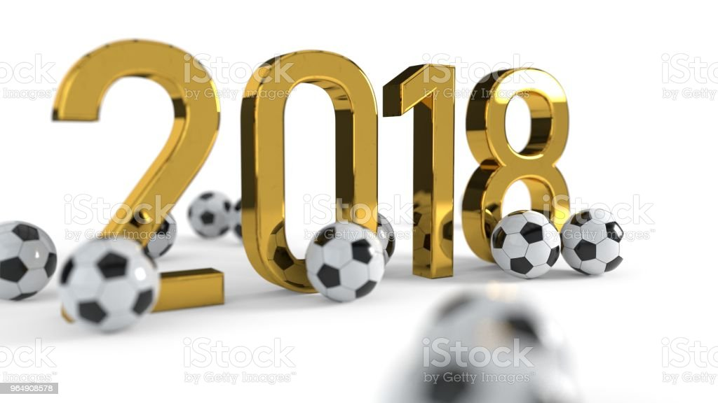2018 soccer championship concept background, 3d rendering royalty-free stock photo