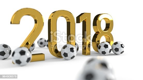 175960311 istock photo 2018 soccer championship concept background, 3d rendering 964908578