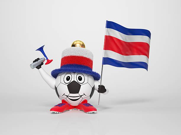 Fußball-Figur-Unterstützung, Costa Rica – Foto