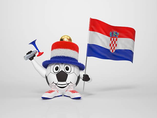 Fußball-Figur-fan unterstützt Kroatien – Foto