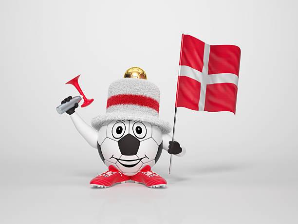 Fußball-Figur-Unterstützung von Dänemark – Foto