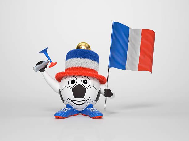 Zeichen der Unterstützung der französischen Fußball-fan – Foto