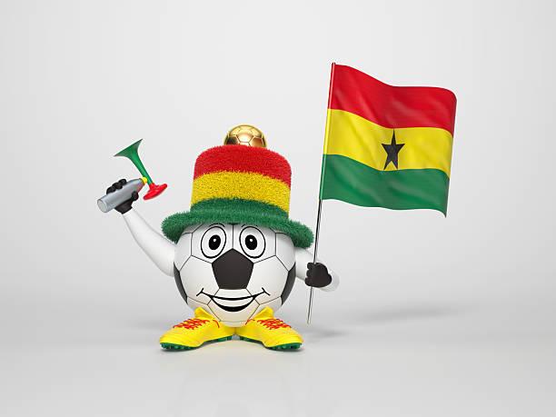 Fußball Charakter-fan unterstützt Ghana – Foto