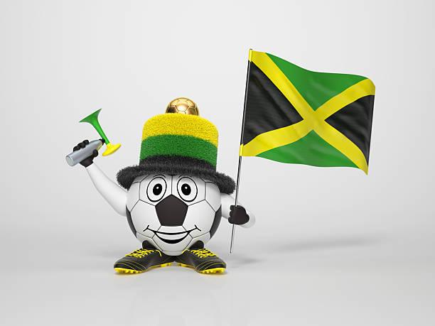 Fußball Charakter-Unterstützung von Jamaica – Foto