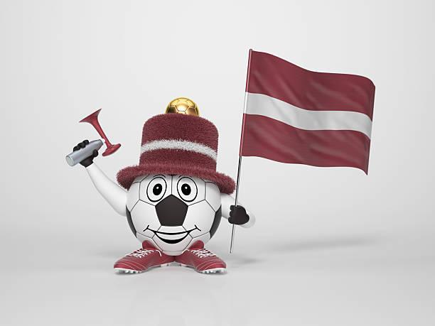 Fußball-Figur-Unterstützung von Lettland – Foto