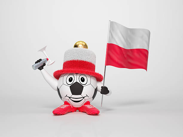 Fußball-Figur-fan unterstützt Polen – Foto