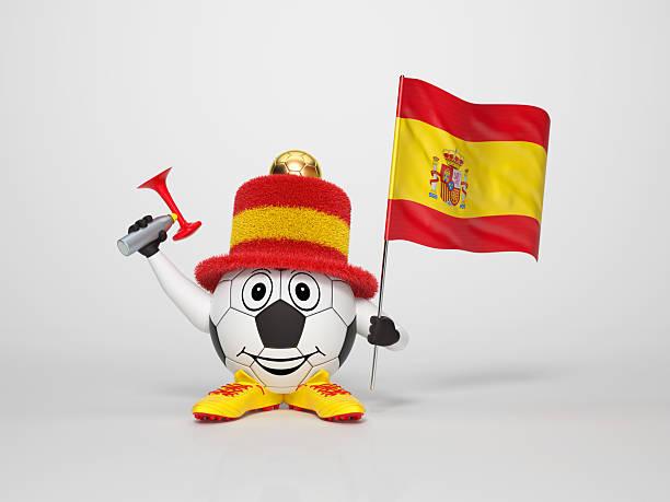 Fußball-Figur-fan unterstützt Spanien – Foto