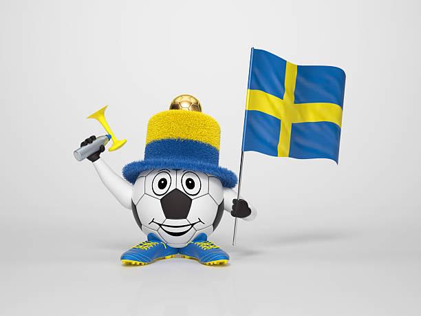 Fußball-Figur-Unterstützung von Schweden – Foto