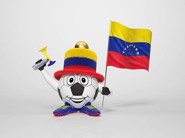 Fußball-fan unterstützt, Venezuela Charakter – Foto