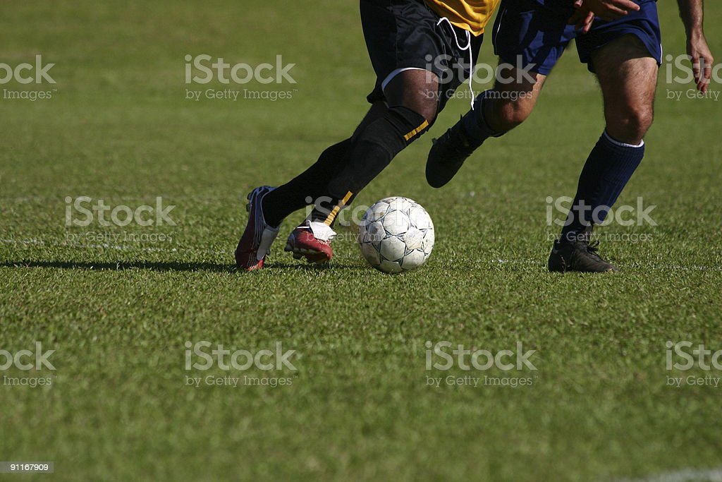 Soccer chase stock photo