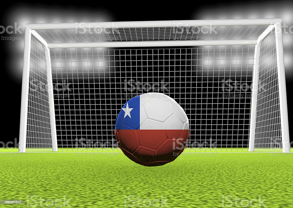 Soccer Chile royalty-free stock photo