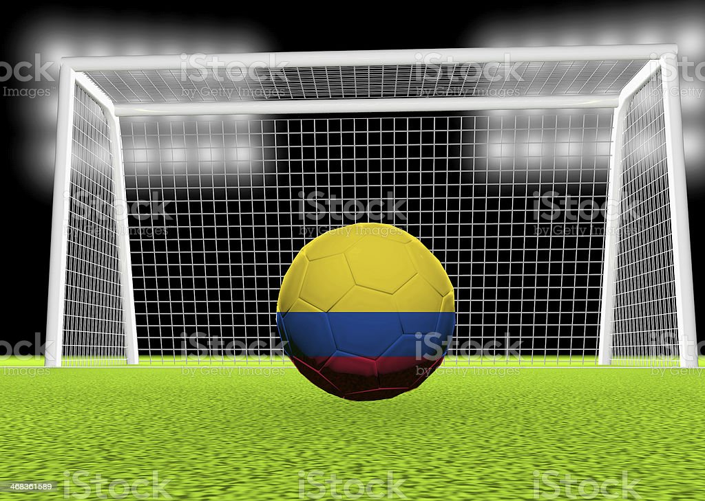 Soccer Colombia royalty-free stock photo