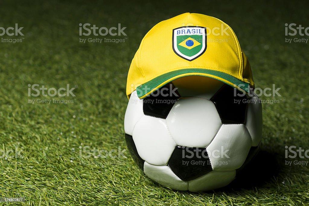 Soccer concept of Fifa World Cup 2014 in Brazil royalty-free stock photo
